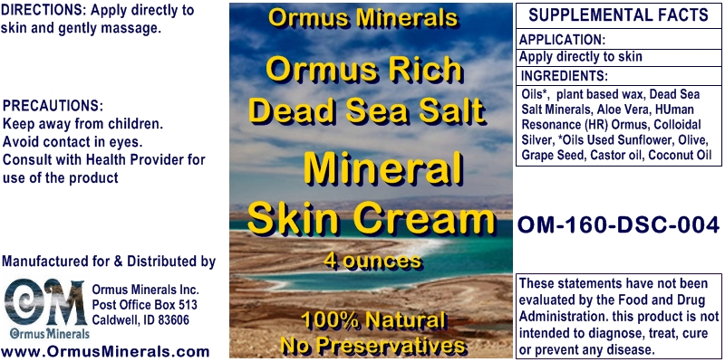 Dead Sea Salt Mineral Skin Cream