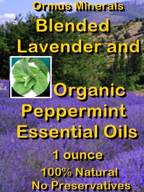 Ormus Minerals -Blended Lavender and Organic Peppermint Essential Oils
